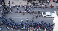 Locals in Diyarbakır protesting against custodian mayors last August (Credit: Firat Topal)